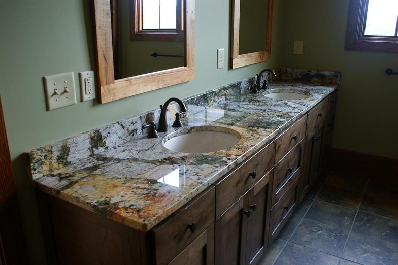 Granite Countertop Work Kitchen Prefab Cabinets Rta