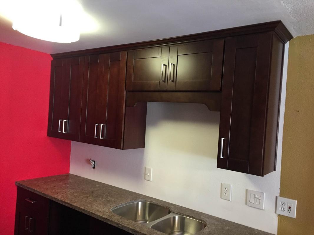 Espresso Shaker Kitchen Cabinets U0026 Dark Grey Quartz Countertops In Playa  Del Rey,ca For Eric.   Kitchen Prefab Cabinets,RTA Kitchen Cabinets, ...
