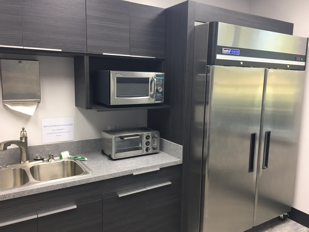 Commercial Work European Style Frameless Cabinets And Grey Quartz  Countertops For The Science And Technology Factory In Huntington Beach,ca    Kitchen Prefab ...