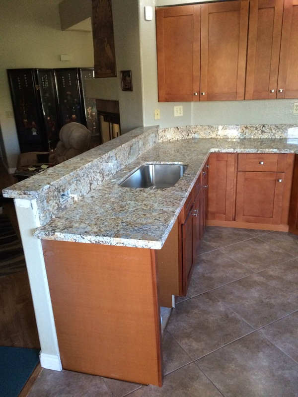 Charmant Maple Cinnamon Shaker Kitchen Cabinets And African Persa Granite Countertop    Moreno Valley, CA   Kitchen Prefab Cabinets,RTA Kitchen Cabinets, ...