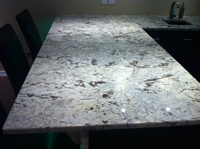 Granite Countertop Work Kitchen Prefab Cabinets Rta