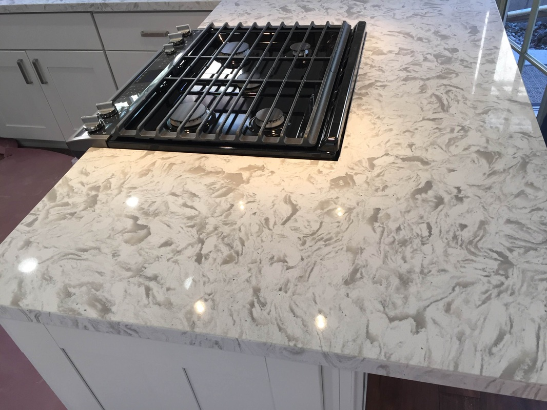 Kitchen White Shaker Cabinets Quartz Countertop In Los Alamitos Ca For Troy Prefab Rta Ready To Emble Cabinet