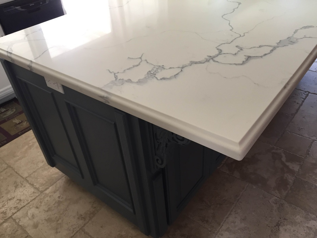 Quartz 4 X 8 Island With Ogee Square Edge Nathan Simi