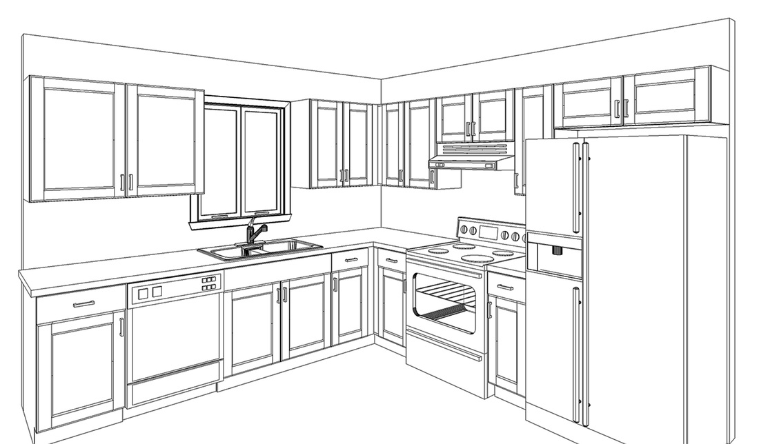 Free 3d Design Kitchen Prefab Cabinets Rta Kitchen